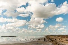 Αλατισμένη λίμνη Elton και αντανάκλαση Στοκ Φωτογραφία
