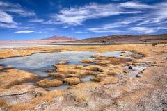Αλατισμένη λίμνη Salar de Tara, Χιλή Στοκ φωτογραφία με δικαίωμα ελεύθερης χρήσης