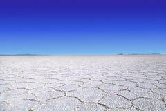 Αλατισμένη λίμνη Uyuni Στοκ εικόνες με δικαίωμα ελεύθερης χρήσης