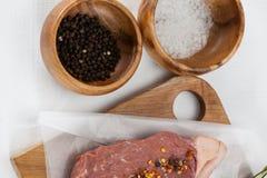 Αλατισμένου και μαύρου πιπέρι μπριζολών κόντρων φιλέτο, Στοκ φωτογραφία με δικαίωμα ελεύθερης χρήσης