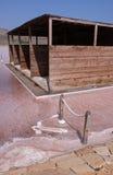 Αλατισμένο ορυχείο στο νησί του Σαντιάγο στο Πράσινο Ακρωτήριο στοκ φωτογραφία με δικαίωμα ελεύθερης χρήσης