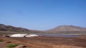 Αλατισμένο ορυχείο στο νησί του Σαντιάγο στο Πράσινο Ακρωτήριο στοκ φωτογραφίες με δικαίωμα ελεύθερης χρήσης