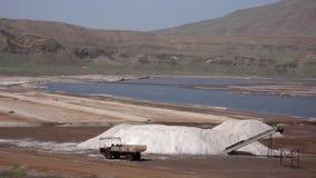 Αλατισμένο ορυχείο στο νησί του Σαντιάγο στο Πράσινο Ακρωτήριο στοκ εικόνα