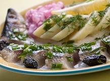 Αλατισμένο σκουμπρί ψαριών στοκ εικόνες