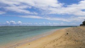 Αλατούχος παραλία Λα, νησί συγκέντρωσης Λα, Γαλλία Στοκ εικόνα με δικαίωμα ελεύθερης χρήσης