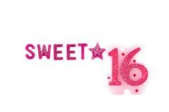 16α γενέθλια Στοκ Φωτογραφία