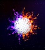 2$α γραφική παράσταση γκολφ πυρκαγιάς σχεδίου υπολογιστών σφαιρών Στοκ Εικόνα