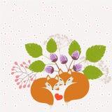 Αλεπούδες ερωτευμένες διανυσματική απεικόνιση