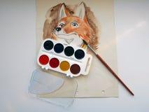 αλεπούδες Στοκ Φωτογραφίες
