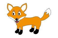 Αλεπού κινούμενων σχεδίων - χαριτωμένο γλυκό, απεικόνιση παιδιών Στοκ εικόνες με δικαίωμα ελεύθερης χρήσης