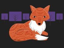 Αλεπού νύχτας ελεύθερη απεικόνιση δικαιώματος