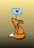 Αλεπού που ονειρεύεται για την αγάπη Στοκ φωτογραφίες με δικαίωμα ελεύθερης χρήσης