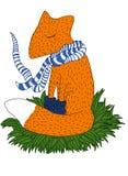 Αλεπού στο μαντίλι Στοκ εικόνες με δικαίωμα ελεύθερης χρήσης