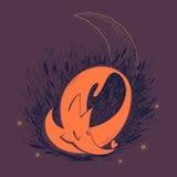 Αλεπού ύπνου Ελεύθερη απεικόνιση δικαιώματος