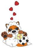 Αλεπού adore ένα πρόβατο Στοκ Εικόνες