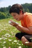 Αλλεργικό παιδί Στοκ εικόνες με δικαίωμα ελεύθερης χρήσης