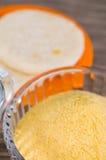 Αλεύρι για να μαγειρεψει τα arepas μέσα ενός cristal κύπελλου Στοκ φωτογραφίες με δικαίωμα ελεύθερης χρήσης