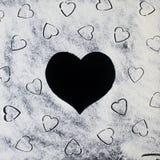 Αλεύρι στις καρδιές Στοκ φωτογραφία με δικαίωμα ελεύθερης χρήσης