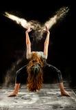 Αλεύρι χορού μπαλέτου της Jazz στοκ φωτογραφίες