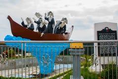 Αδελφές του ST Paul του μνημείου του Chartres Πόλη Dumaguete, Φιλιππίνες Στοκ φωτογραφίες με δικαίωμα ελεύθερης χρήσης