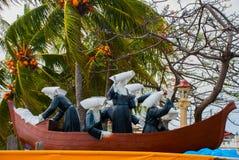 Αδελφές του ST Paul του μνημείου του Chartres Πόλη Dumaguete, Φιλιππίνες Στοκ φωτογραφία με δικαίωμα ελεύθερης χρήσης