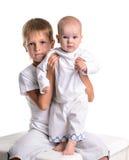 αδελφός με το μωρό οικογένεια ευτυχής Στοκ Εικόνες