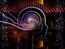 Virtualization της ανθρώπινης τεχνολογίας Στοκ Εικόνες