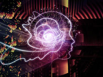 Virtualization της ανθρώπινης τεχνολογίας Στοκ εικόνα με δικαίωμα ελεύθερης χρήσης