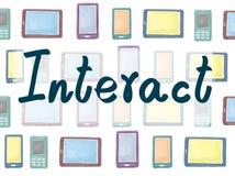 Αλληλεπιδράστε κοινοτική έννοια Διαδικτύου συνομιλίας επαφών ελεύθερη απεικόνιση δικαιώματος