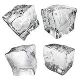 Αδιαφανείς κύβοι πάγου διανυσματική απεικόνιση