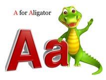 Αλλιγάτορας με το alphabate Στοκ εικόνες με δικαίωμα ελεύθερης χρήσης