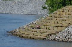Αλιεία από τα βήματα Στοκ Εικόνα