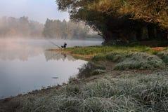 Αλιεία ατόμων Στοκ εικόνα με δικαίωμα ελεύθερης χρήσης