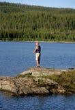 Αλιεία ατόμων Στοκ Φωτογραφία