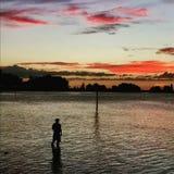 Αλιεία ατόμων Στοκ Εικόνες