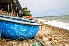 αλιεία βαρκών παραλιών Βιετνάμ Στοκ Φωτογραφία