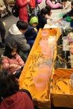Αλιεία για τη διασκέδαση γαρίδων Στοκ Φωτογραφίες