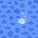 Αλιεία. Διανυσματική απεικόνιση Στοκ φωτογραφία με δικαίωμα ελεύθερης χρήσης