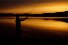 Αλιεία μεσάνυχτων Στοκ φωτογραφία με δικαίωμα ελεύθερης χρήσης