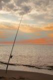 Αλιεία νύχτας ακτών Στοκ Εικόνες