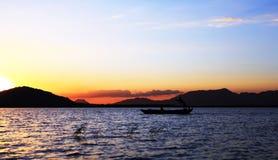 Αλιεία νύχτας Στοκ Εικόνες