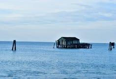 Αλιεία που ρίχνεται σε Pelestrina Στοκ Φωτογραφία