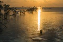 Αλιεία πρωινού Στοκ Φωτογραφία