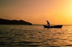 Αλιεία σε Praia Tartaruga Στοκ Εικόνες