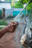 Αλιεία στα δίχτυα Στοκ εικόνα με δικαίωμα ελεύθερης χρήσης