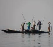 Αλιεία στη λίμνη Inle Στοκ Φωτογραφίες