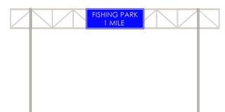 Αλιεία της ετικέτας πάρκων στον τρόπο Στοκ εικόνα με δικαίωμα ελεύθερης χρήσης