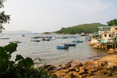 Αλιεία του αγροκτήματος στο νησί χλόης στοκ φωτογραφίες