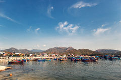 Αλιεία του λιμένα σε Nha Trang Στοκ Εικόνες