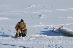 Αλιεία το χειμώνα Στοκ Φωτογραφία